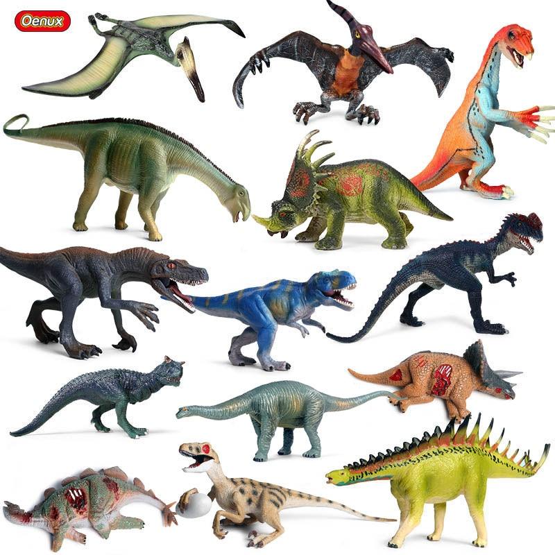 Mejor Regalo de Educaci/ón Preescolar para Ni/ños Anpro Dinosaurios Juguetes,15 Piezas de Figuras de Dinosaurios de Pl/ástico Realistas con 50 Piezas de Pegatinas de Dinosaurios