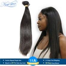 חדש כוכב שיער פרואני ישר שיער לא מעובד אריגת צבע טבעי 1/3/4 חתיכה 100% לא מעובד 10A אדם גלם שיער ערב חבילות