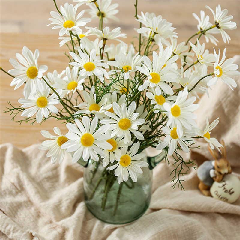 人工デイジーの花コスモスシルク造花装飾雄しべ小さなヒナギク結婚式の家の装飾
