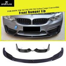 Углеродное волокно передний бампер спойлер сплиттеры для BMW F80 M3 F82 F83 M4 седан купе Кабриолет- сплиттеры