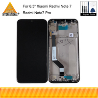 Original Axisinternational For 6.3 Xiaomi Redmi Note7 Pro Redmi Note 7 LCD Display Screen With Frame+Touch Screen Digitizer
