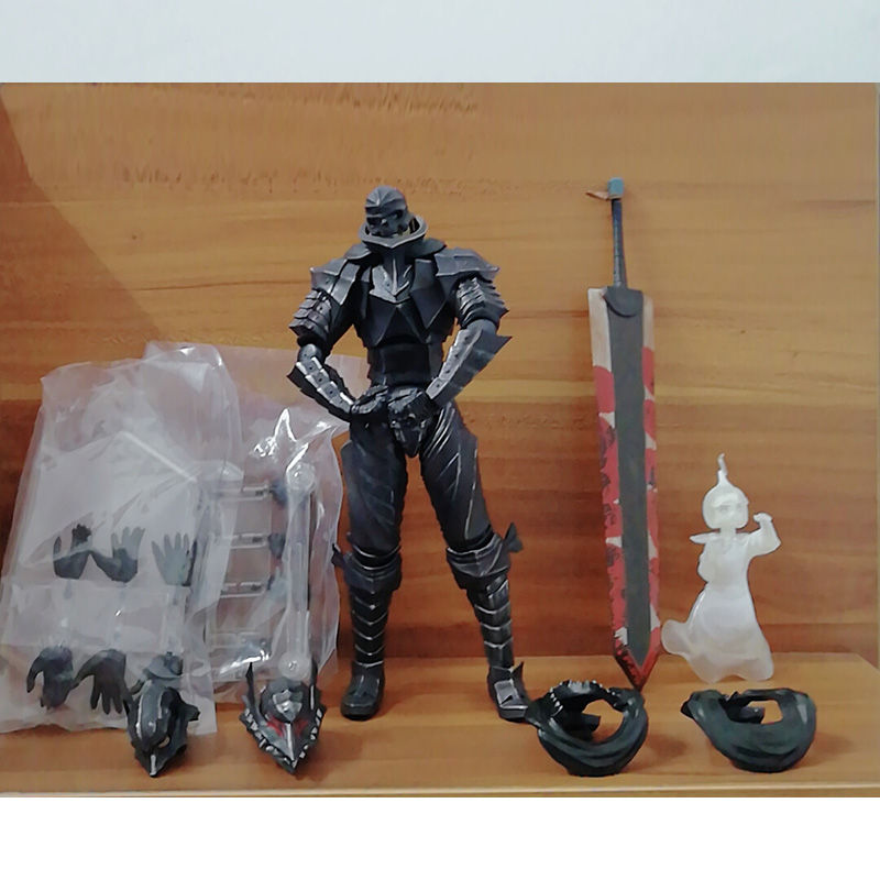 Figma 410 Game Berserk Beruseruku Black Swordman PVC Action Figures Collectable Model Toys Gift