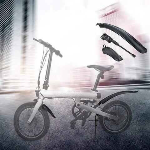Prateleira para Xiaomi Pneu Respingo Paralama Dianteiro Traseiro Fender Mijia Qicycle Ef1 Bicicleta Elétrica Kickstand Tripé Suporte