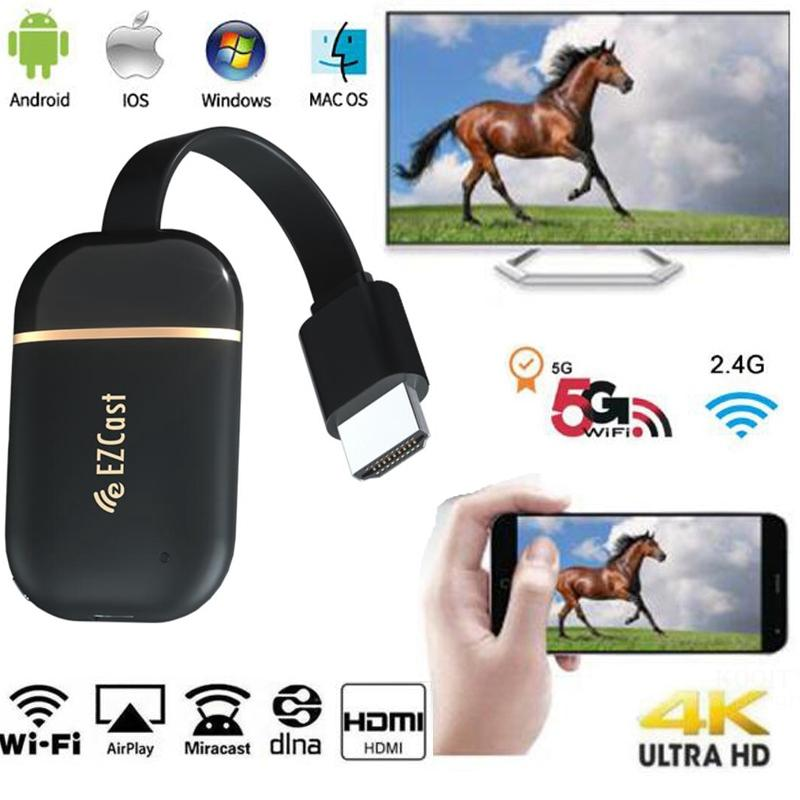 Wireless HDMI wifi display Dongle 5G 2,4G spiegel 4K 1080P Miracast Android tv stick chrome /Airplay Media Streamer