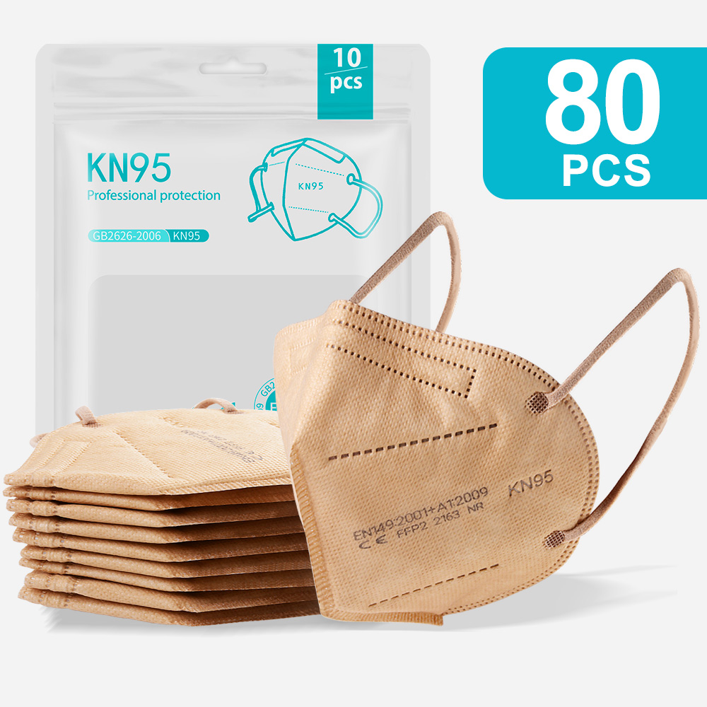 80PCS Gold-KN95