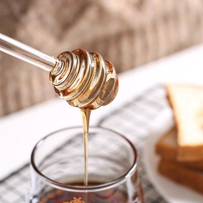 1pcs Glass Honey Stick European Style Solid Honey Stirring Bar Coffee Stirring Bar Jam Stick Glass Stirring Kitchen Gadget Sets Moderate Price
