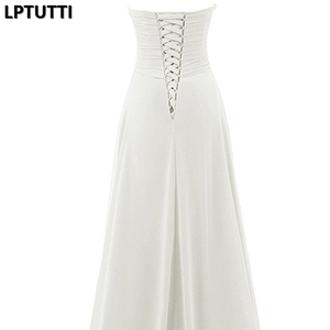 Image 5 - LPTUTTI Sequin CRYSTAL New Sexy Vintage Princess Bridal Marriage Gown Bride Simple Party Events Long Luxury Wedding Dresses