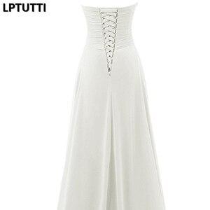 Image 5 - LPTUTTI cekiny kryształ nowy Sexy Vintage księżniczka suknia ślubna dla nowożeńców panna młoda proste imprezy imprezowe długie luksusowe suknie ślubne
