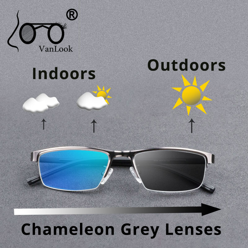 Photochromic Reading Glasses Chameleon Lens Anti Blue Ray UV400 Sun Glasses Men Women Computer Eyeglasses +50 75 1.25 1.75 5.5 6