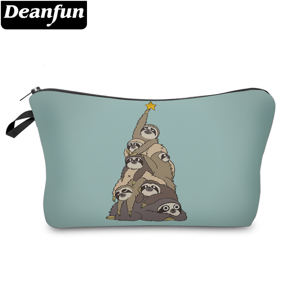Deanfun Funny Sloth Small Makeup Bag Elegant Cosmetic Bag For Purse Good Idea For Gift For Girls 51800