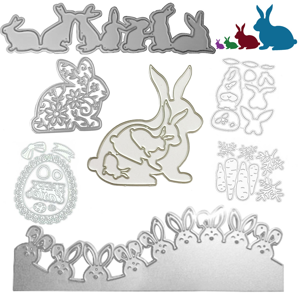 Easter Bunny Cutting Of New 2020 Arrival Card Paper Embossing Scrapbooking Craft Diy Photo Album Rabbit Cutting Dies