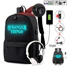 غريب الأشياء في سن المراهقة على ظهره للبنين بنات مضيئة حقيبة مدرسية USB شحن مكافحة سرقة ومقاومة للماء على ظهره للمدرسة
