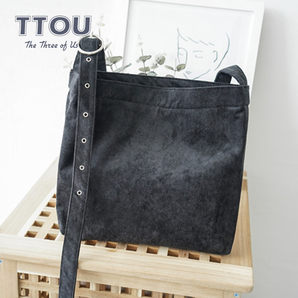 TTOU Fashion Women Casual Corduroy Tote Bag Student Solid Shoulder Bag Reusable For Teenage Girls Shopping Beach Bag New