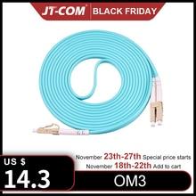Cable de parche de fibra óptica, 10G, OM3, LC, UPC LC, UPC, multimodo, dúplex, 2,0mm, 3,0mm