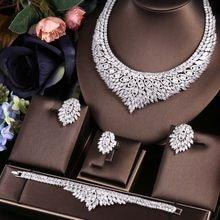 jankelly African 4pcs Bridal Zirconia Jewelry Sets For Women jewelry sets & more Dubai Nigeria CZ Crystal Wedding Jewelry Sets