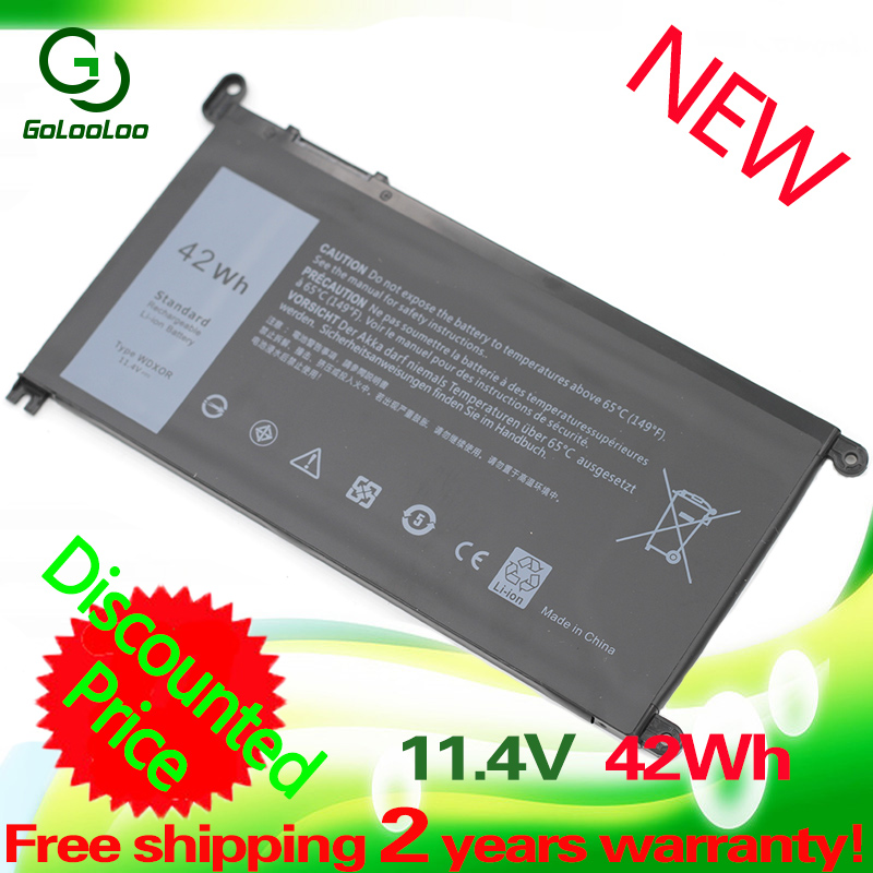 Golooloo Laptop Battery For Dell Inspiron 14 7000 5567 7560 7472 7460-d1525s 7368 7378 5565 For Latitude 3488 3580 WDXOR