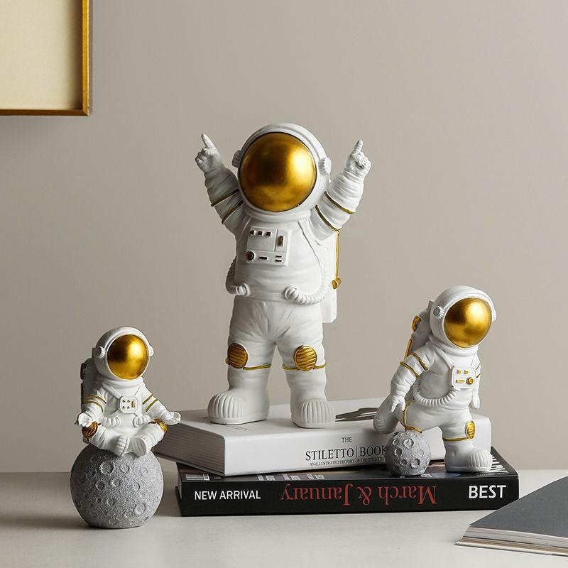 3Pcs/set Astronaut Action Doll Boy Girl Gift Astronaut Models For Children Dream Cake Decoration Living Room Home Decor
