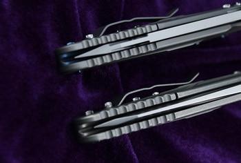 kevin john Delta folding knife S35VN blade titanium handle camping hunting survival pocket Kitchen fruit knives 5