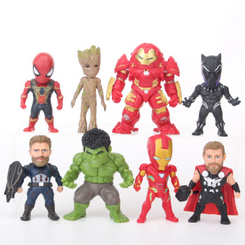 5pcs lot marvel movie masks avengers hulk captain america batman spiderman ironman party mask boy gift action figures toys e Marvel Avengers: Infinity War 8pcs Action Figure Iron Man Hulk Groot Captain America PVC Model Toys Collectible Children Gift