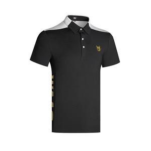 W męska odzież sportowa z krótkim rękawem WAAC Golf oddychająca koszulka Golf odzież S-XXL preferowana Casual koszulka golfowa darmowa wysyłka