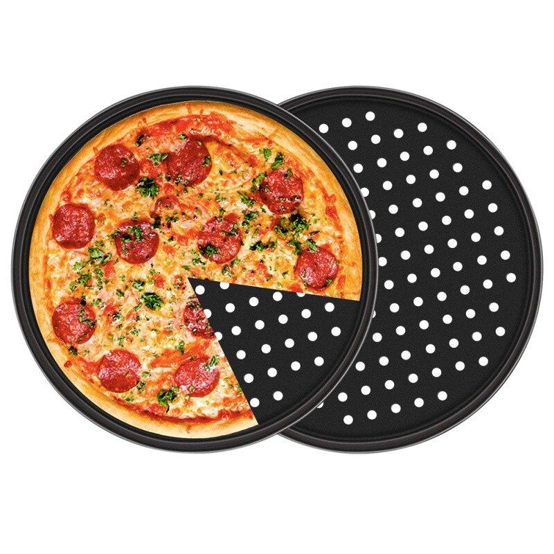12inch Pizza Tray Mesh Seamless Pancake Pizza Screen Baking Tray Metal Net Bakeware Kitchen Baking Tools