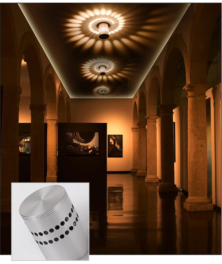 Hd19bf11f01b54918b30479d5cdd950b0I Modern LED Ceiling Light 3W RGB Porch Lamp Surface Mount Flush Lighting Fixture Balcony Corridors Living Room Decor