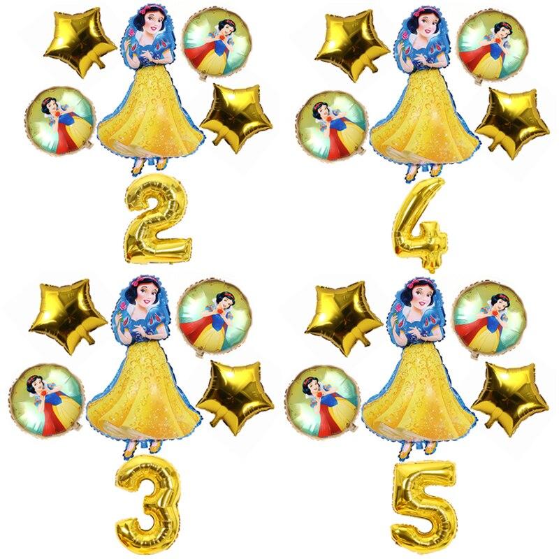 Disney neve folha branca globos festa de aniversário decorações menina princesa balões de hélio conjunto crianças favores brinquedos decorações balões