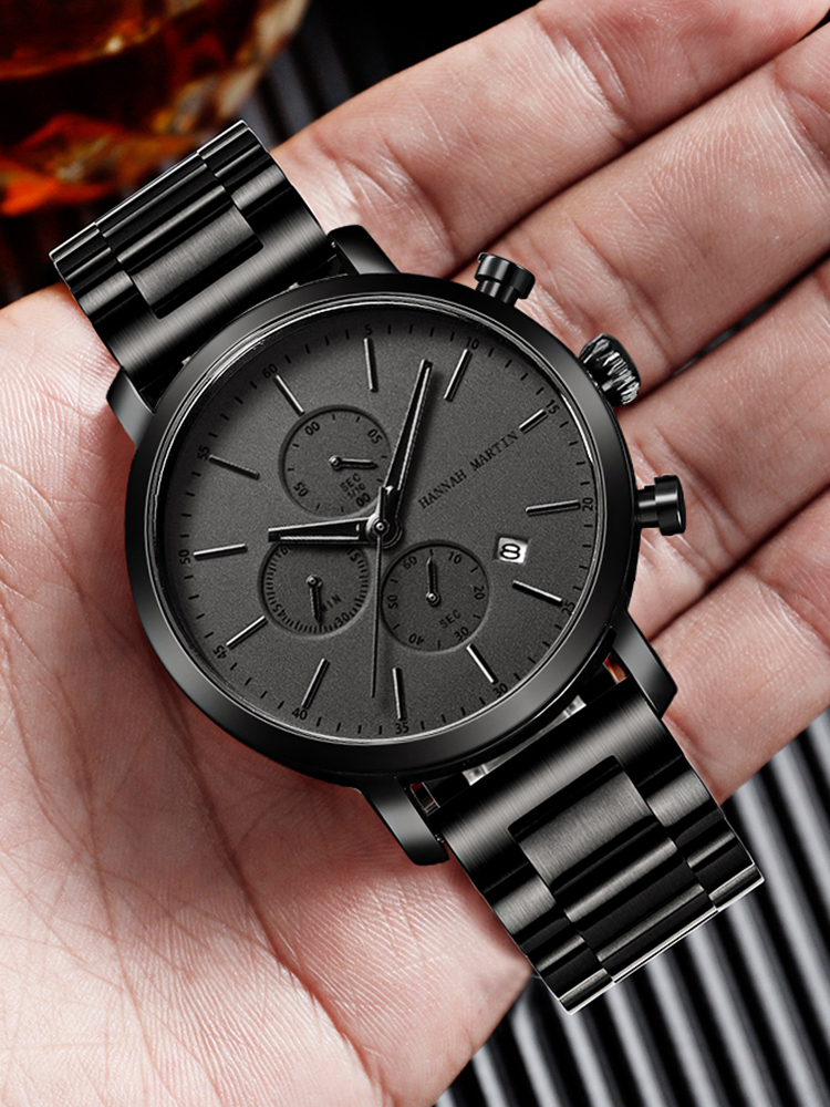 Men Watches Small Top-Brand Business Stainless-Steel Waterproof Fashion Relogio Mesh