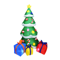 2019 New Christmas Tree Santa Claus Decor Multicolor Gift Boxes Garden Holiday Yard LED Lights Decoration for New Year Party S24