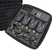 Беспроводной сигнализатор укуса для рыбалки, 1 + 4 комплекта, 4 шт., с подсветкой, чехол свинга из ЭВА для ловли карпа, B1203S