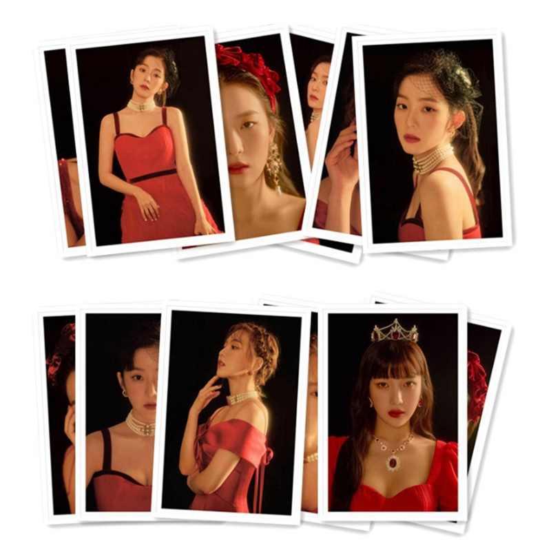 אדום קטיפה LOMO כרטיסי סט 40 יח'\סט נייר תמונה כרטיס KPOP אוהדי אוסף פח תיבת אריזה