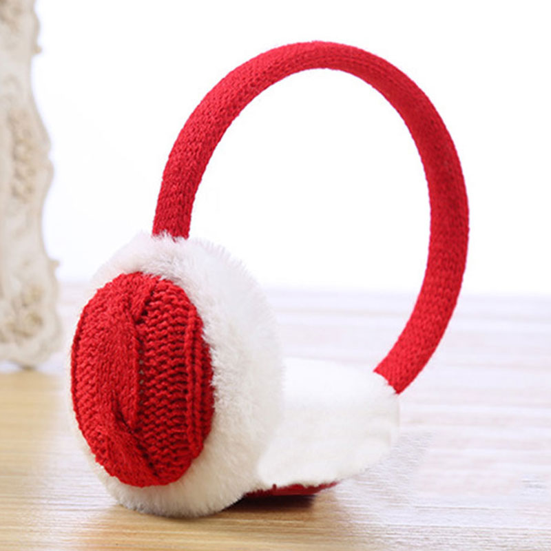 New Crochet Knitted Ladies Earmuffs Autumn Winter Warm Comfortable Solid Unisex Skiing Fur Headphones Casque Antibruit Cute