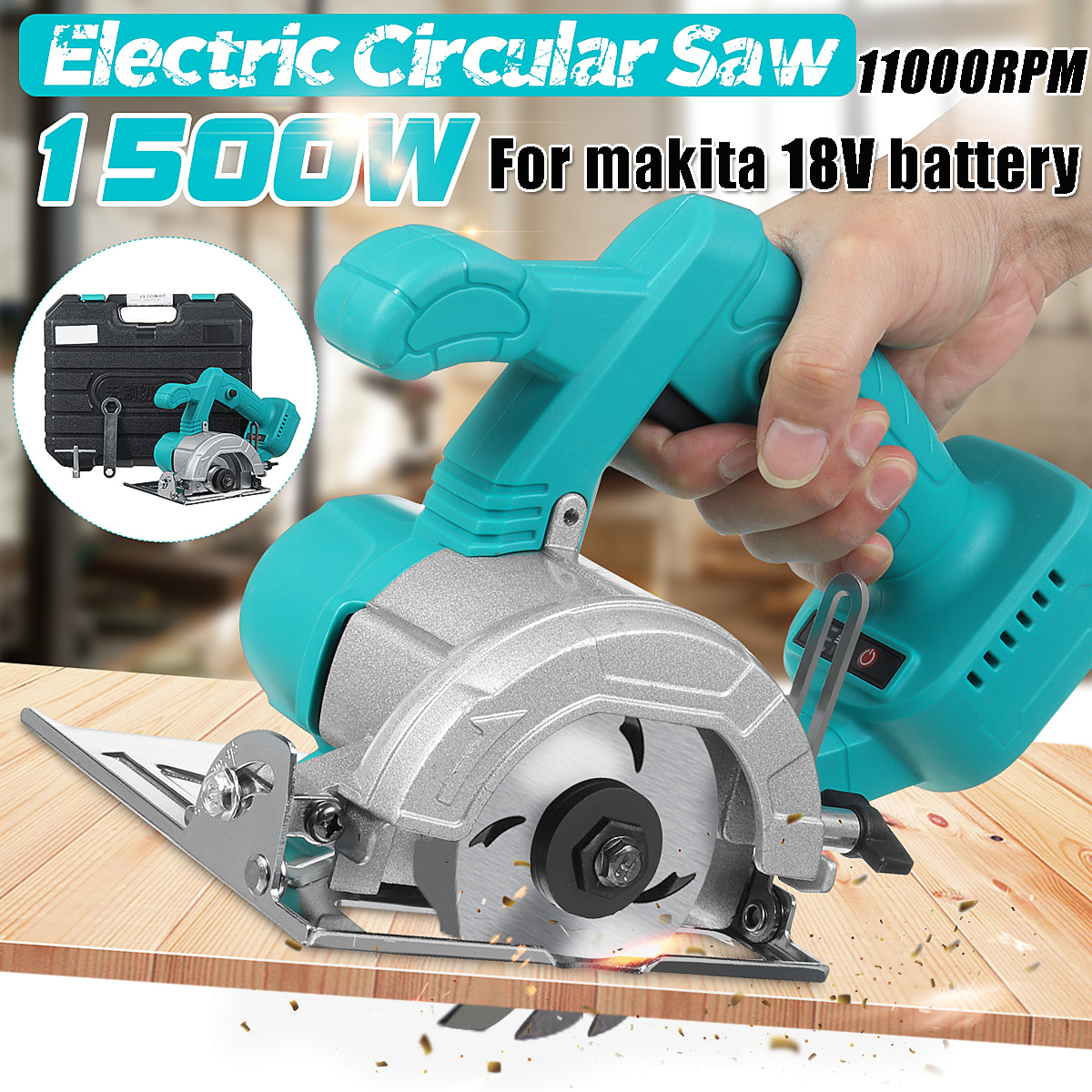 For Makita 18V Battery 1500W Electric Circular Saw Handle Power Tools Dust Passage Multifunction Cutting Machine