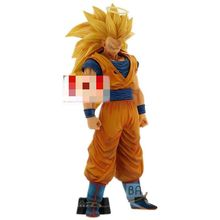 Anime rysunek Dragon Ball Z Son Goku Super Saiyan 3 zabawki Z PVC 33cm figurka Model kolekcjonerska lalka gogota DBZ Juguetes figura