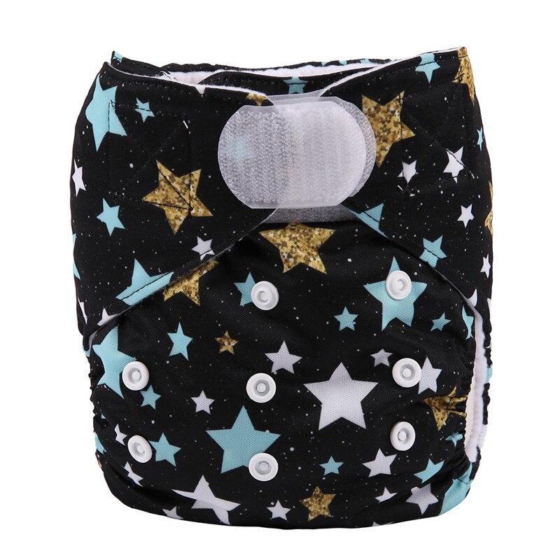 [Sigzagor] 1 тканевый подгузник с карманами для детей, подгузник с застежкой-липучкой, с широкими полосками на талии - Цвет: DV15