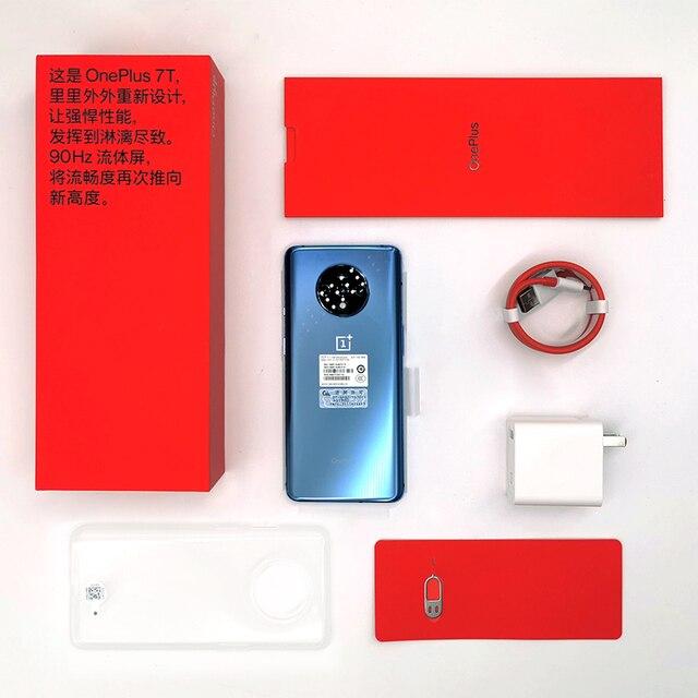 Global ROM OnePlus 7T 7 T 8GB 128GB Smartphone Snapdragon 855 Plus Octa Core 90Hz AMOLED Screen 48MP Triple Cameras NFC 1