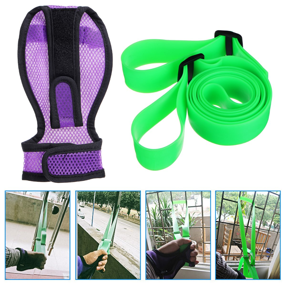 Upper Limb Arm Training Belt Rehabilitation Finger Glove Stroke Hemiplegia Paralyzed Elastic Stretch Belt Exercise Training Care