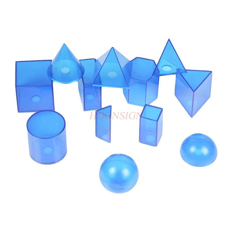Geometric body model transparent teaching demonstration teaching instrument primary school junior high school mathematics