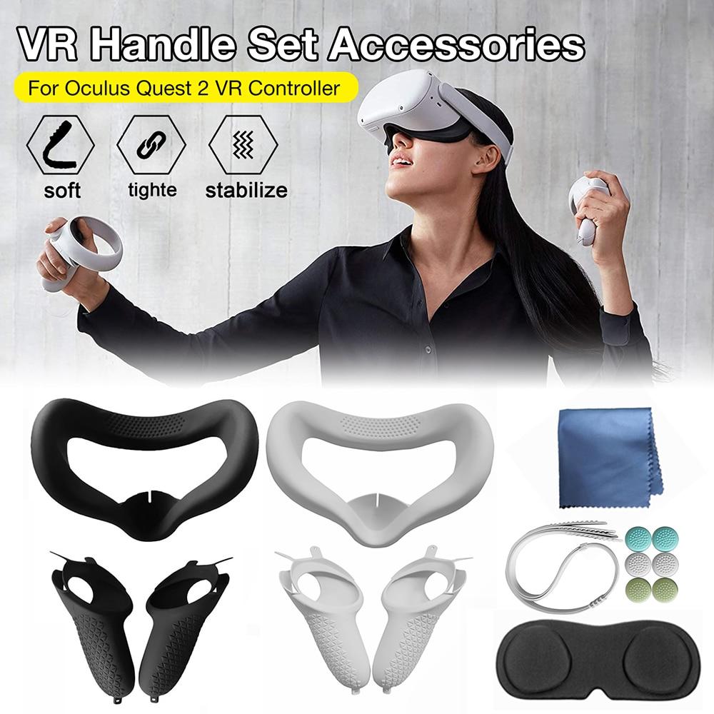6 Pçs/set Helmet Eye Capa Máscara Facial para o Óculo Busca 2 VR Óculos De Fone De Ouvido Suporte para Quest2 Acessórios de Realidade Virtual