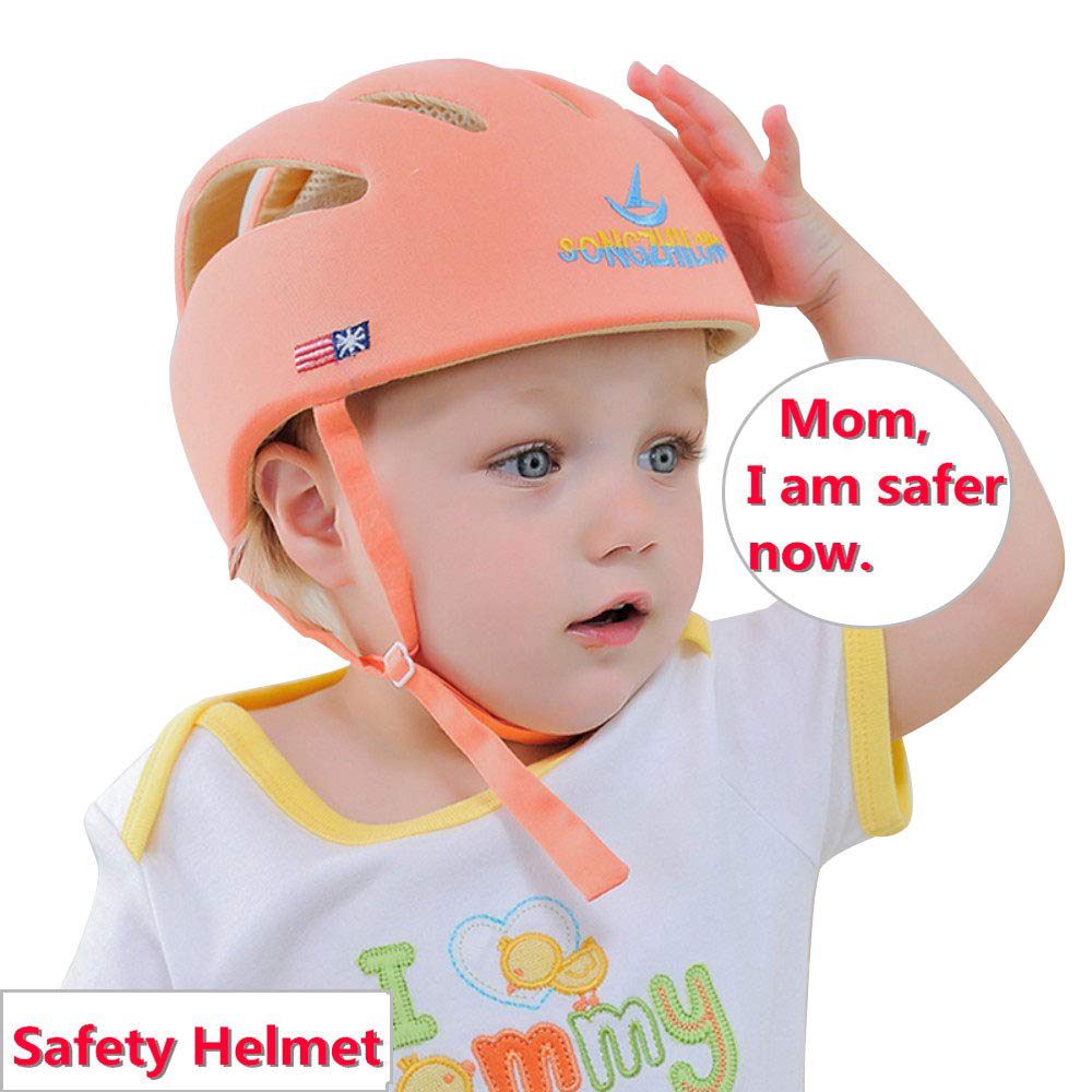 Baby Hat Safety Helmet For Infant Children Kids Learn To Walk Cotton Adjustable Baby Protective Helmet Baby Cap For Boys Girls