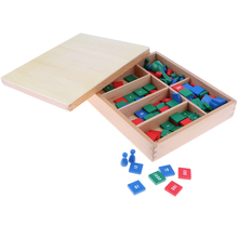 Timbri In Legno Montessori Matematica Materiali Gioco Educativo Giocattolo