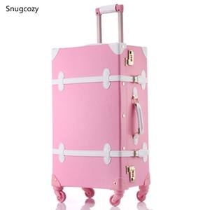Suitcase Handbags Rolling-Luggage Travel Princess-Series Brand Spinner Boardable Snugcozy