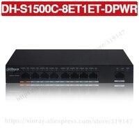 Dahua DH S1500C 8ET1ET DPWR poe switch 8ch ethernet interruptor de alimentação suporte 802.3af 802.3at poe + hi poe padrão de energia|Transmissão e cabos|   -