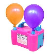 1pc plugue da ue de alta tensão duplo buraco compressor de ar elétrico balão inflator bomba ventilador de ar balão bomba