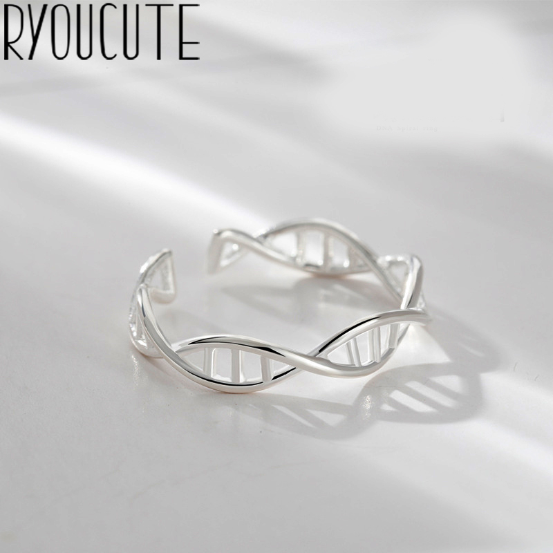 Bohemian Vintage 925 Sterling Silver Line Rings For Women Gifts Girls Open Retro Antique Rings Wedding Jewelry
