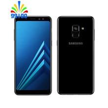 Восстановленный разблокированный сотовый телефон Samsung Galaxy A8 2018 A530F 5,6 дюйма 4 Гб + 32 ГБ одна/две Sim-карты Octa Core 4G-LTE