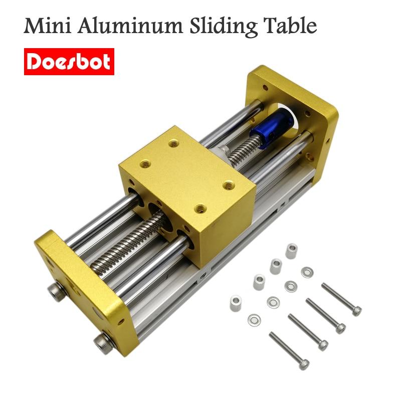 Mini CNC Aluminum Sliding Table Engraving Machine Accessories Apply Nema17 42BYG Stepper