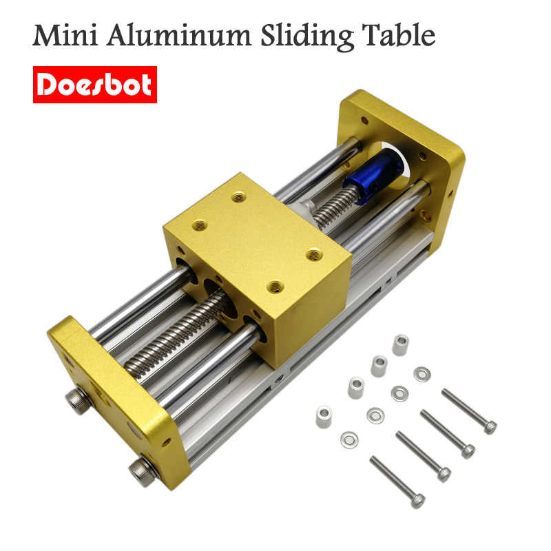Mini CNC Aluminum Sliding Table Engraving Machine Accessories Apply Nema17 42BYG Stepper