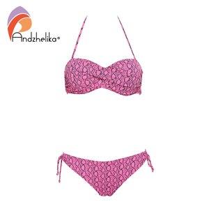 Image 5 - Andzhelika 2020 Mới Sexy Da Báo Bikini Nữ Đồ Bơi Đẩy Lên Bikini Bộ Hở Lưng Đồ Bơi Brasil Bãi Biển Áo Tắm Biquini