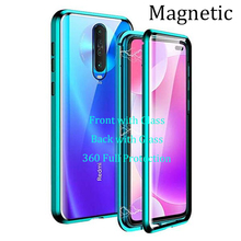 Magnetic Case for Xiomi Redmi K30 Pro Case Front+Back double-sided 9H Tempered Glass Case for Redmi K30 5g/4g Metal Bumper Case